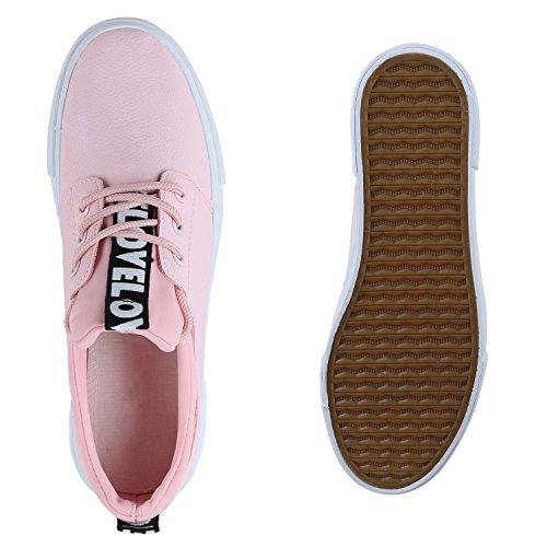 Damen Sportschuhe Rosa Plateau Sneakers Schuhe Sneaker Prints PqFgazPU
