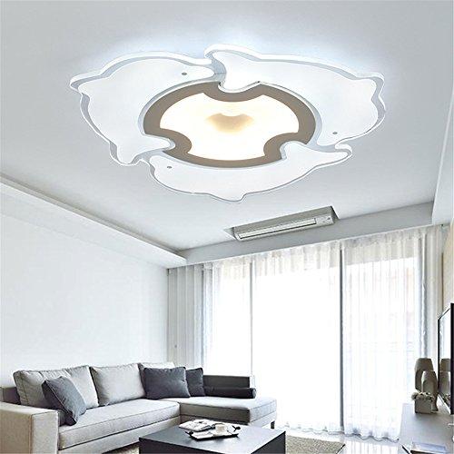 DengWu Deckenleuchten LED Kinder Schlafzimmer Schlafzimmer leuchten Dolphin ultra-dünne einfache Wohnzimmer leuchten kreative Decke, Beleuchtung, Durchmesser 400 mm - 400-decken-beleuchtung