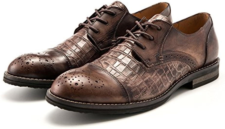 Verano Zapatos De Cuero para Hombres Zapatos Casuales Zapatos con Cordones Y Transpirables