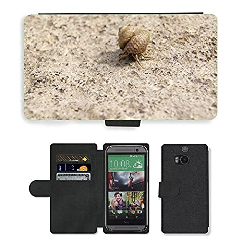 hello-mobile PU LEDER LEATHER FLIP CASE COVER HÜLLE ETUI TASCHE SCHALE // M00136633 Einsiedlerkrebs Shell Snail Meer Natur // HTC One M8