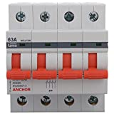 Anchor 98064 4 Pole UNO Series Isolator, 63 Amp, White