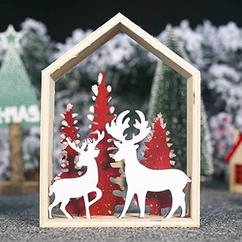 Mitlfuny Festival dekor,Christmas,Halloween,Weihnachtsdekoration,Halloween deko,Halloween kostüm,Holz Mini Weihnachtsbaum Desktop Ornamente Frohe Weihnachten Party Decor (Hollaween Kostüm Für)