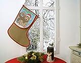 'Kit per ricamare Natale Stivali 'Freinds Forever perfetto come regalo per Babbo Natale o di Natale–Dimensione 30cm x 40cm, filo da ricamo in 17colori–puntocroce–Tessuto in 100% iuta, filo da ricamo in 100% cotone–finito con orlo–Alta Qualità–Pronto Per Essere lavorato–Lavoro al punto croce fai–AUS Dem KAMACA-SHOP–Avvento Natale