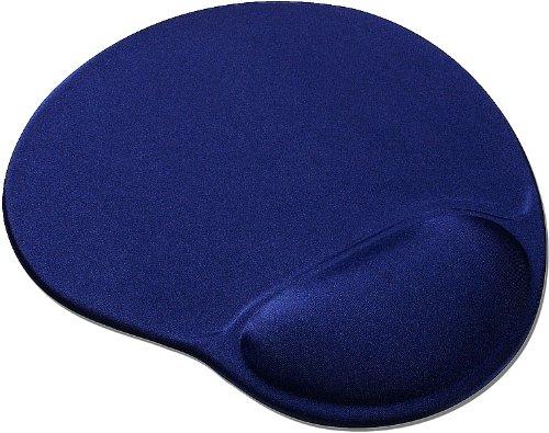 Speedlink Vellu Gel-Mauspad mit Handballenauflage (Unterlage mit Handgelenkauflage, Gel-Kissen zur Entlastung des Handgelenk) blau