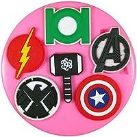 Logos de superhéroes Molde de silicona para la torta de Decoración Pastel de Cupcake Toppers Glaseado