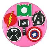 Superhero Firmenzeichen Green Lantern Flash Avengers Silikon Form für Kuchen Dekorieren, Kuchen, kleiner Kuchen Toppers, Zuckerglasur Sugarcraft Werkzeug durch Fairie Blessings