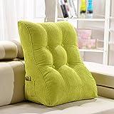 Unbekannt Neck Lace Bed Rückenlehne/Dreieck Sofa Kissen/Bett Soft Bag/Office Lendenwirbel Kissen Abnehmbar (Farbe : Grün, Größe : 55*30*60cm)
