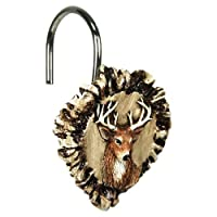 Rivers Edge Products Antler and Deer Shower Curtain Hook Set by RiversEdge Products