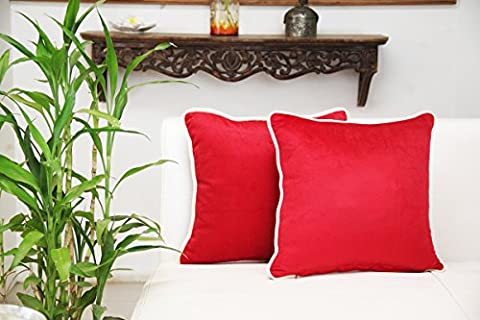 Store Indya Red Throw Pillow Cushion Covers