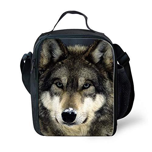 sghshsgh Rucksack für Hochschule,Animal Wolf Thermal Lunchbag School Picnic Lunch Shoulder Bag for Boys Bookbag -