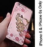 Best I Phone 6 Case For Girls - KC Bling Beautiful Peacock Rhinestone Finger Ring Holder Review