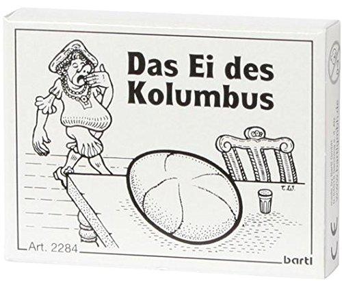 Bartl 102284 Mini-Holz-Puzzle Das Ei des Kolumbus aus 9 kleinen Holzteilen
