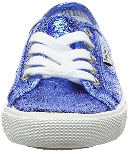 Pepe Jeans - Aberlady Metal, Scarpe da ginnastica Donna Blau (552REGAL BLUE)