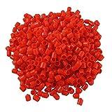1000 x Rosso Morbido Plastica RCA Spina Cover Cappello per DVD Amplificatore AV Ricevitore
