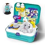 GizmoVine Mascotas Juego de imaginación Juego de Juguetes con Mochila 16pcs Juguetes para 2 3 4 5 años niños