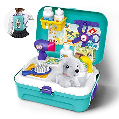 GizmoVine Spielzeug 3 Jahren Junge Pet Pretend Play Set Spielzeug mit Rucksack 16 Stück Spielset Spielzeug für 2 3 4 5 Jährige Kinder (Spielzeug Für Beste Jungen 2-jährigen)