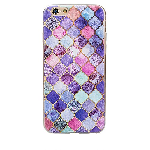 Étui pour iPhone 6 cas, iPhone, 6S, ruirs Nice coloré d'impression marbrures rigide ultra fine en TPU souple Coque pour iPhone 6 iphone 6S 11,9 cm, plastique, vert, iPhone 6 6S Purple Plaid