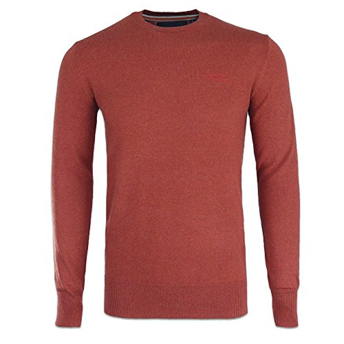 Superdry -  Maglione  - Uomo Ember Orange Medium