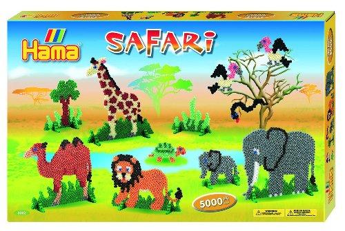 Hama 3032 - Geschenkpackung Safari, ca. 5000 Bügelperlen und 4 Stiftplatten