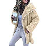 MOIKA Damen Sweatjacke mit Kapuze,Frauen Winter Long Sleeve Hoodies Strickjacke Freizeitjacke Mantel