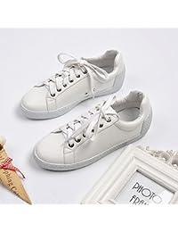 La correa de sujeción damas _arranque estrella cabeza redonda zapatos blancos de metal frontal decorativo lazo con brillantes zapatos blancos de la muchacha, y Lai Chi rosca blanca,34