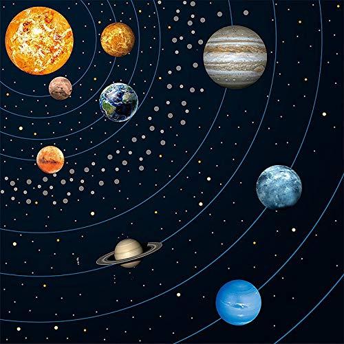 YAYAS Wandaufkleber Abnehmbare Glow in The Dark Planet Wandaufkleber Decke Kinderzimmer Stick Art Decor für Wände Kinder Schlafzimmer Wohnzimmer