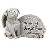 "Design Toscano Hundefigur ""Forever in Our Hearts"", Grau, 6,5 x 15 x 10 cm, QL593931"