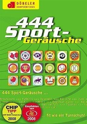 444 Sport Geräusche, CD-ROM Fit wie ein Turnschuh. MP3 unterstützende Software für PC und Mac