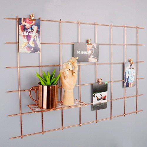 Rumcent Rose Gold Foto Rahmen Aufhängen Display, Foto Kunstwerken Prints Wand, Gitter Wandschmuck Wandtattoo für Wohnzimmer Wohnheim Büro Set von 1, Größe 80x 52,1cm - Dekoration Foto-print