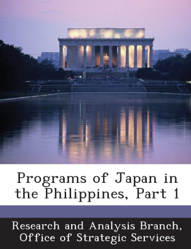 Programs of Japan in the Philippines, Part 1