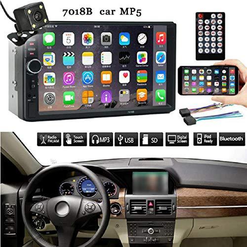 Vaycally 7 'Doppel-Din-Autoradio mit SAT NAV GPS-Navigation und Rückfahrkamera, 1080P-Autoradio mit USB und Bluetooth, Auto-MP5-Player, Rückfahrkamera + Fernbedienung, Schnellladung. Sat Nav Kit