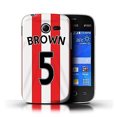 Officiel Sunderland AFC Coque / Etui pour Samsung Galaxy Pocket 2 / Brown Design / SAFC Maillot Domicile 15/16 Collection