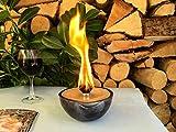 Kerzenfresser Keramik metallic, Wachsfresser Outdoor, zum Schmelzen von Wachsresten, Tischfackel, Kerzen Recycling, Gartenfackel, metallic, ca. 14x6,5 cm, mit windfestem Dauerdocht, reine Handarbeit