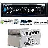 Opel Corsa B - Kenwood KDC-100UB - CD/MP3/USB iPod/Android-Steuerung Autoradio - Einbauset