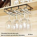 Global- Schmiedeeisen Black Weingestell/Becherhalter/Becherhalter/Rotweinglashalter, Multifunktionsbar Schrankschrank Ornamente-Breite 18cm (Größe : 30cm)