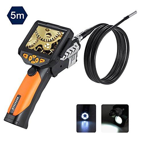 Depstech 3,5-Zoll-QVGA-LCD Digital Wasserdichte Endoskop 8,2 mm Durchmesser Boreskop Video-Endoskop 16 ft/5M Kabel