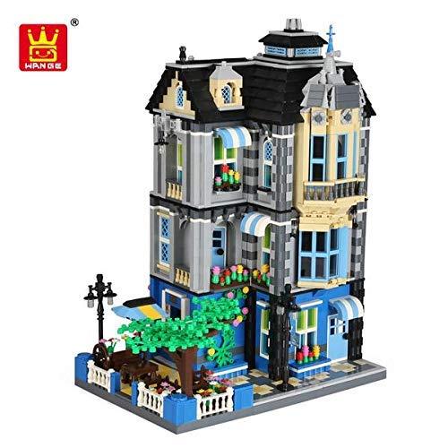 Q-Man Ingenious Spielzeug Moc Architektur Garten Kaffee Haus 3 Levels / 2313pcs Baukasten #F310