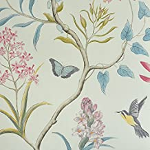 Papel pintado flores y pajaros for Papel pintado amazon
