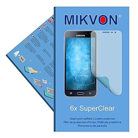 6x Mikvon SuperClear Film de protection d'écran pour Samsung Galaxy J3 (2016) Duos - transparent - Fait en Allemagne
