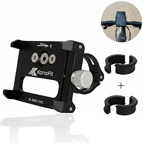 KonoFit BOMBENFEST - Handyhalterung für Fahrrad & Motorrad | Passend für Alle Smartphones | Passt an Alle Lenker +2 Gratis Passstücke | Handyhalterung Fahrrad