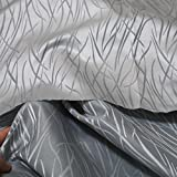 TOLKO Deko-Stoffe Meterware als Gardinen- und Vorhang-Stoff in Silber Grau | Breite: 250 cm, für preiswerte Gardine, Vorhang, Sonnenschutz, Beschattung, zum Nähen