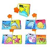 Baby Entdeckungsbuch Buch 1pcs Intelligenz Entwicklung Reinigungstuch Erkenntnis Buch lernen & Aktivität Spielzeug für Kinder Baby (Meerestier)