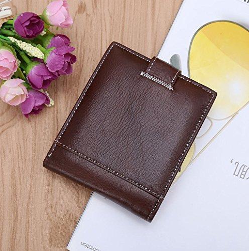 Dairyshop Portafogli Portafoglio Bifold della borsa della moneta del supporto di carta di credito dell'identità di cuoio del Faux dell'uomo di modo (Nero) Caffè nuovo