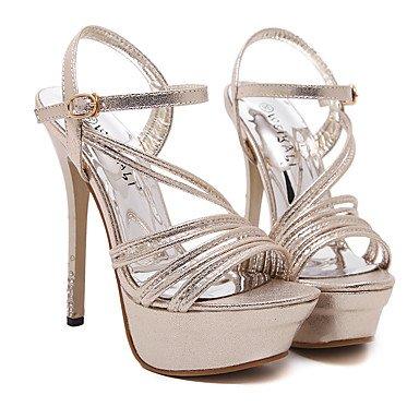 LvYuan Sandali-Ufficio e lavoro Formale Serata e festa-Club Shoes-A stiletto-Sintetico-Argento Dorato Gold