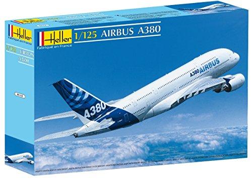 Heller 80438 - Modellino da Costruire, Aereo Airbus A380, Scala 1:125 [Importato da Francia]