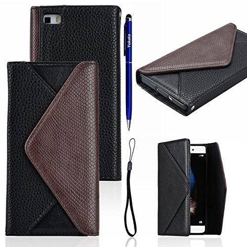 Huawei P8 Lite Cover, Yotaka Luxury Vintage Busta Custodia PU