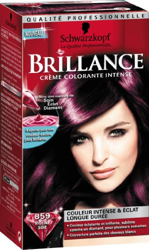 schwarzkopf brillance coloration permanente violine soie 859 - Coloration Schwarzkopf