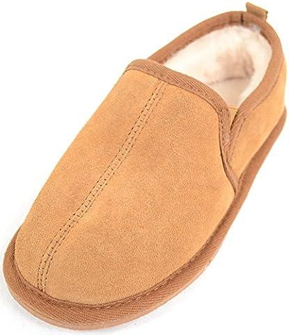 Snugrugs Childrens / Kids / Boys Warm Sheepskin Slippers / Slipper Boot - Chestnut - Child 11