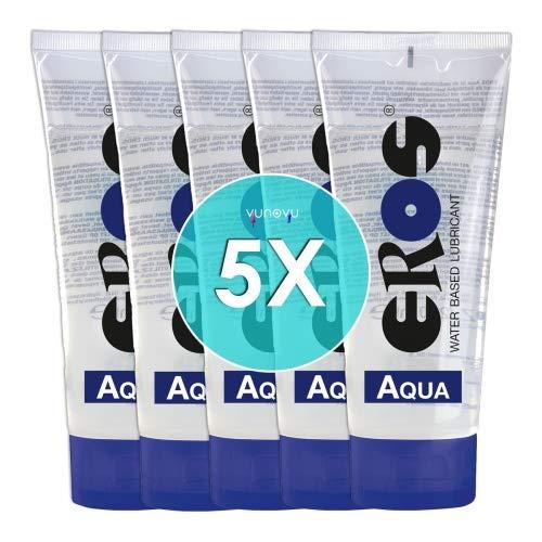5x Eros Aqua Gleitgel auf Wasserbasis Tube 200 ml : Wasserbasiertes Erotik Gleitmittel Sparpaket Großpackung