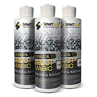 Smartseal Grout Magic - Limestone - 237ml. an Amazing Grout Restorer That Makes Old Grout Like New. Permanently Seals The Grout to Help Protect Against Mould, Mildew and staining for up to 15 Years